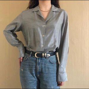 Zanella plus-size platinum shirt